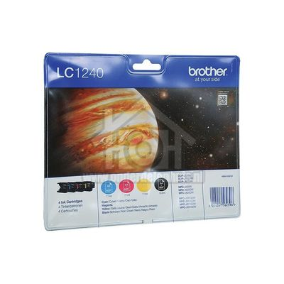 Brother Inktcartridge LC 1240 Multipack BK/C/M/Y DCPJ525W, DCPJ725DW, MFCJ430W LC1240VALBP