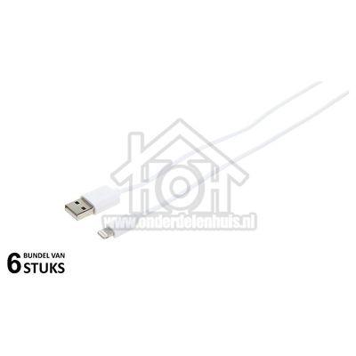 Grab 'n Go USB Kabel Apple Lightning, Wit, 200cm Apple 8-pin Lightning connector GNG125