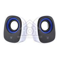 Ewent Speakerset USB 2.0 Luidsprekers Kleur Zwart/Wit EW3513