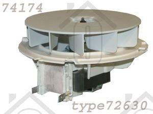 Whirlpool Ventilator Koelventilator compleet met motor AKZ217IX, AKZ432NB 481236118511