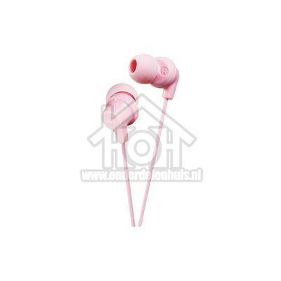 JVC Hoofdtelefoon In Ear met krachtig geluid Roze met 1,2 meter snoer HAFX10LPEF
