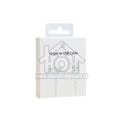 Foto van Apple 30-pins kabel USB kabel naar 30-pins, wit 1m Datakabel met dock connector MA591G/C