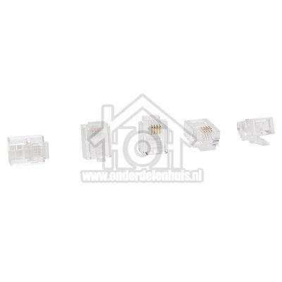 Easyfiks Telefoon Stekker Modulaire Stekker RJ11 6p4c Transparant, 5 stuks BME811