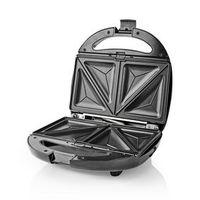 Nedis Multi-Grill | Tosti / Wafel / Grill | 800 Watt | Zwart KARP100BK