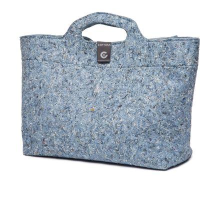 Cortina Shoppertas Sofia blauw recycled