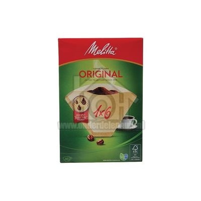 Melitta Filter Koffiefilter bruin 1X6, 40 stuks Universeel 6626815