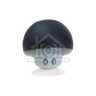 Funtastix Speaker MINI Bluetooth Speaker Zwart, 2,5 uur play time FUNBTSPEAKERMUSH-BLK