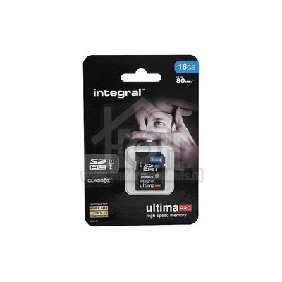 Integral Memory card Class 10 80MB/s SDHC card 16GB INSDH16G10-80U1