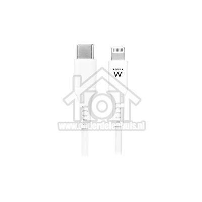 Foto van Ewent USB Kabel USB-C naar Apple Lightning connector, 100cm Apple 8-pin Lightning