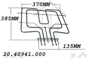 Whirlpool Verwarmingselement 2500W bovenelement AKP431WH, AKP118WH 481225998456