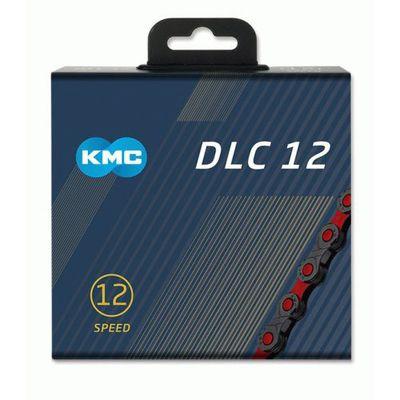 KMC ketting 1/2x11/128 126s DLC 12 zwart/rood 12v