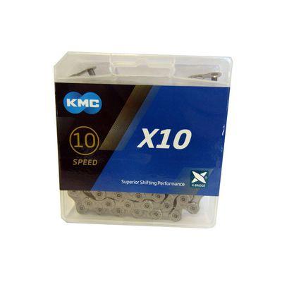 KMC ketting 1/2-11/128 114 10V X10 grijs