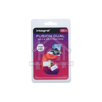 Foto van Integral Memory stick Fusion Dual Flash Drive 128GB USB-C & USB 3.1 Gen 1