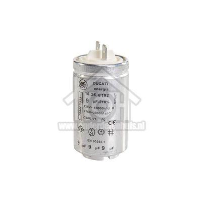 Zanussi Condensator 9 uf Aanloopcondensator TDS583T, TCS673T, KE2040 1250020227