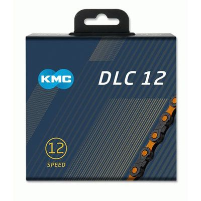 KMC ketting 1/2x11/128 126s DLC 12 zwart/oranje 12v