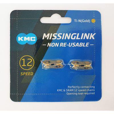 KMC Sluitschakel MissingLink 12NR Ti-N Gold 12v (2)