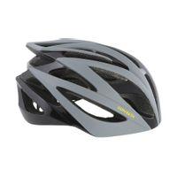 Contec Helm Race Tempest. Zwart / Grijs / Neoyellow, Maat M (55-58 Cm)