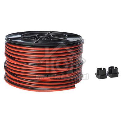Universeel Snoer Luidsprekersnoer 2x2.50 Rood/zwart kabelhaspel 0126919