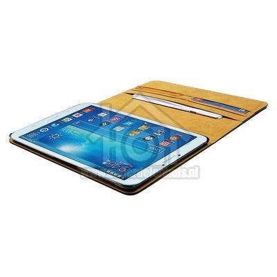 Spez Book Case Leder, Zwart, 4 creditcard slots, 1 document slot Samsung Galaxy Tab 3 8