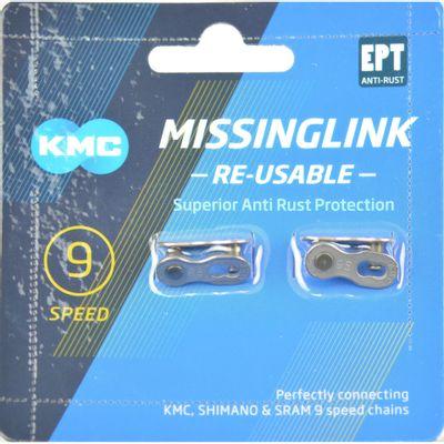 KMC Sluitschakel MissingLink 9R EPT zilver 6.60mm 9v (2)