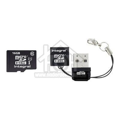 Integral Memory card Class 10 40MB/s 16GB Micro SDHC en SDXC card + Reader
