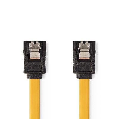 Foto van Sata kabel 0,5mtr geel