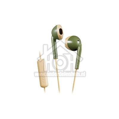 JVC Hoofdtelefoon Retro oordopjes, khaki beige Afstandsbediening met microfoon HAF19MGCE