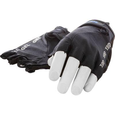 Mirage handschoen vingerloos Lycra gel zwart L