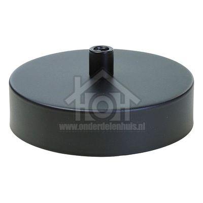 Calex Plafondplaat Metalen plafondplaat mat zwart 100mm, 1 gat 940010