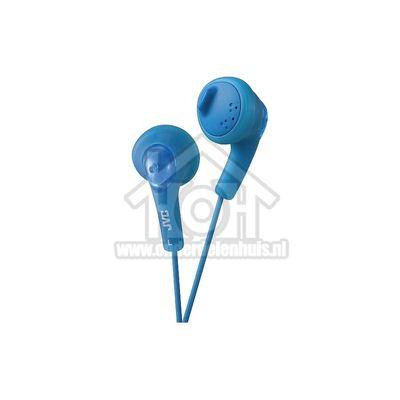 JVC Hoofdtelefoon Gumy, In Ear met krachtig geluid Blauw met 1 meter snoer HAF160AEP