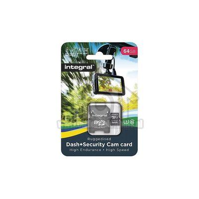 Integral Memory card Micro SDHC/XC Class 10 64GB 95MB/s Dash Cam en beveiligingscamera