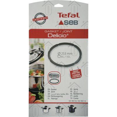 Tefal Afdichtingsrubber Ring rondom snelkookpan 253mm diameter Delicio Classic, Delicio