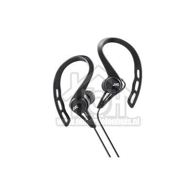 JVC Hoofdtelefoon In Ear Sport met oorclip Zwart met 1,2 meter snoer HAECX20BE