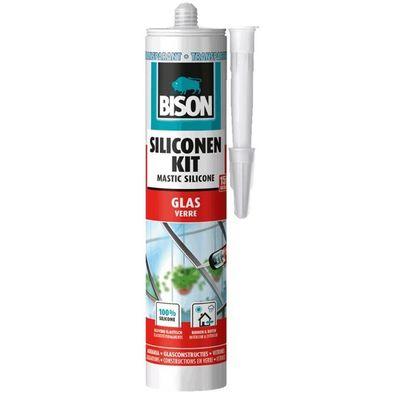 Bison siliconenkit glas transparant 310 ml