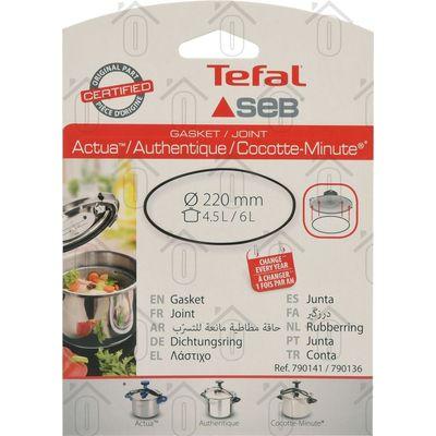 Tefal Afdichtingsrubber Deksel snelkookpan 4,5L./6L. Actua, Authentique, Cocotte-Minute