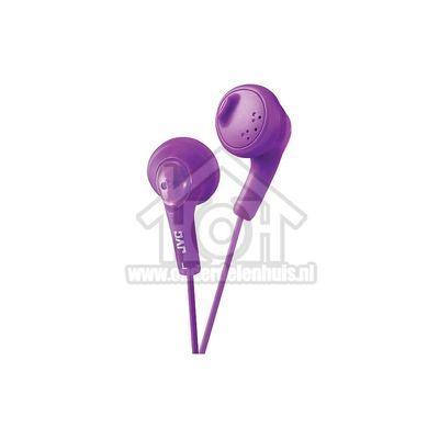 JVC Hoofdtelefoon Gumy, In Ear met krachtig geluid Paars met 1 meter snoer HAF160VE(P)