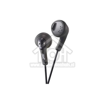 JVC Hoofdtelefoon Gumy, In Ear met krachtig geluid Zwart met 1 meter snoer HAF160BEP