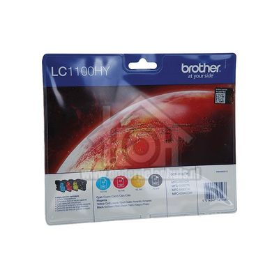 Brother Inktcartridge LC-1100 Multipack BK/C/M/Y DCP-6690CW, MFC-5890CN, MFC-5895CW