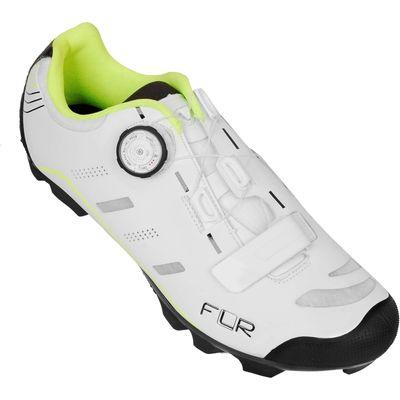 FLR F-75 MTB Schoen Wit/NeonGeel 45