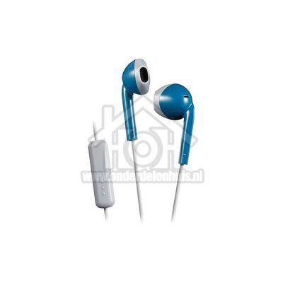 JVC Hoofdtelefoon Retro oordopjes, blauw grijs Afstandsbediening met microfoon HAF19MAHE