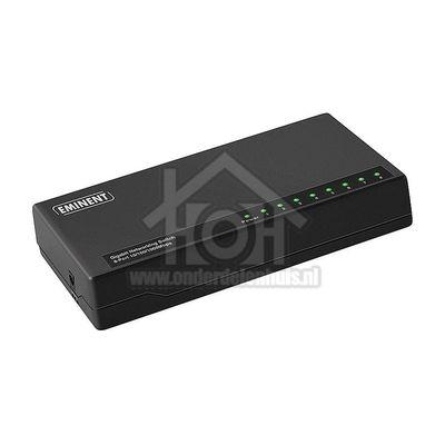Eminent Switch netwerk 10/100/1000mbps 8 poorten, gigabit EM4442
