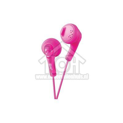 JVC Hoofdtelefoon Gumy, In Ear met krachtig geluid Roze met 1 meter snoer HAF160PEP