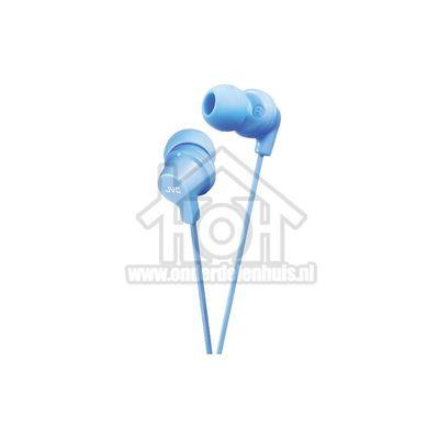 JVC Hoofdtelefoon In Ear met krachtig geluid Blauw met 1,2 meter snoer HAFX10LAE