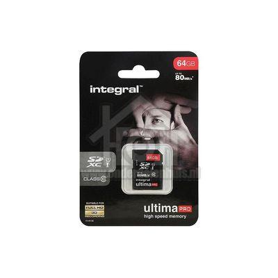 Integral Memory card Class 10 80MB/s SDXC card 64GB INSDX64G10-80U1