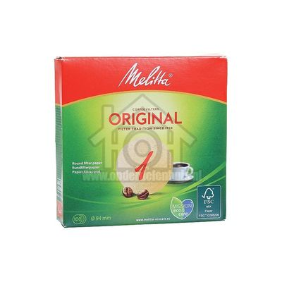 Melitta Filter Koffiefilter bruin 1, 100 stuks Universeel 6629281