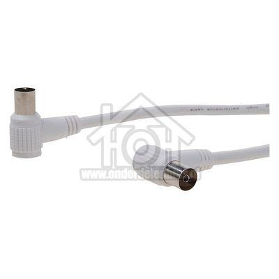 Easyfiks Antenne Kabel Coax, Haaks, IEC Male - IEC Contra Female 10.0 Meter, Dubbel