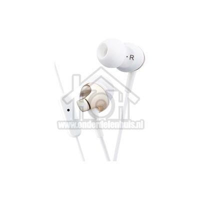 JVC Hoofdtelefoon In Ear met Microfoon en Afstandsbediening Goud met 1,2 meter snoer