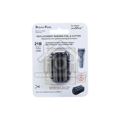 NewSPeak Scheerblad Series 3 21B black Cassette series 3 4313042944642