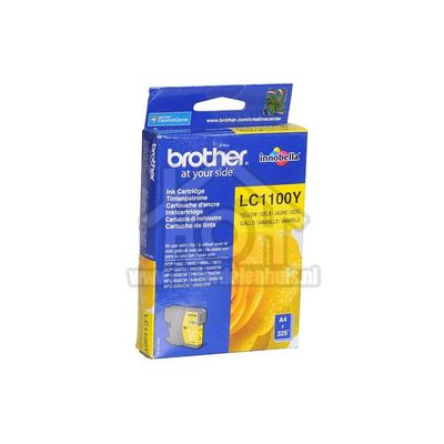 Brother Inktcartridge LC 1100 Yellow MFC490CW,DCP385C LC1100Y