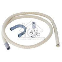 Slang afvoer 2 mtr kliksysteem geschikt voor Whirlpool WA700-800-ADG600-800-Alur 481953028534
